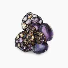 Signed 'Iradj Moini' Amethyst and Citrine Ring