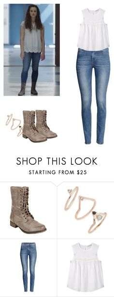 """""""Hannah Baker - 13 reasons why / 13rw"""" by shadyannon ❤ liked on Polyvore featuring Steve Madden, Topshop, H&M and MANGO"""
