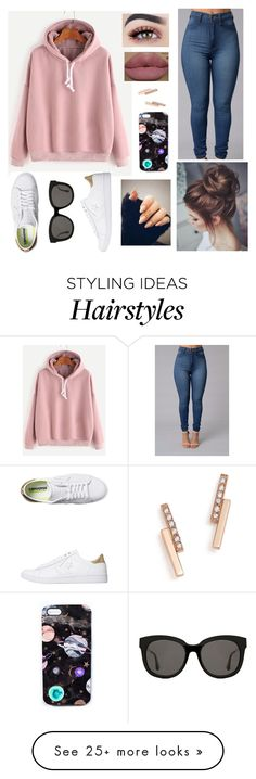 """""""Messy Hair, Don't Care..."""" by chey-the-geek on Polyvore featuring Converse, Kylie Cosmetics, Gentle Monster, Nikki Strange and Zoë Chicco"""