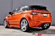 Vesuvius Orange Range Rover Evoque by Ultimate Auto – - ℝ℮Pi₦ℕeD - by Averson Automotive Group LLC Range Rover Evoque, Rr Evoque, Land Rover Sport, Jaguar Land Rover, Ranger, Colorado City, Jeep Suv, Automotive Group, Suv Cars
