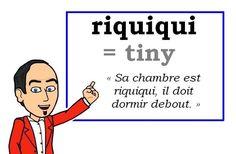 Le mot (familier) du jour.  « riquiqui » [rikiki]  #fle #Expressionoftheday #learnfrench #francais