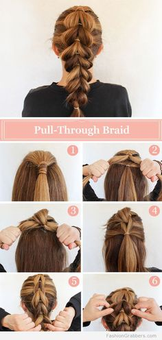 French Pull-Through cutest braid tutorials! Amazing? It is! Check now!