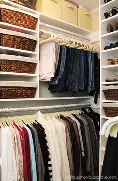 When I was laying out the plan for my Master Closet Makeover and looking to create a new closet space for my husband, I did a lot of homework.