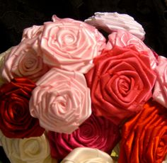 How to make your own ribbon roses tutorial.