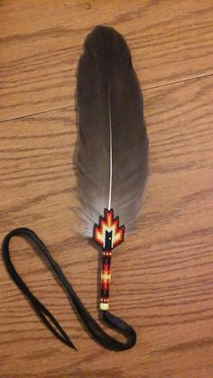 Beautiful & Amazing Beaded Eagle Feather❗