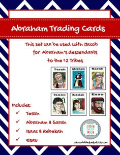 Abraham genealogy Trading Cards to Jacob (Post includes the Trading cards for Jacob & family) @ www.biblefunforkids.com #Biblefun