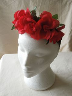 Flower headband headdress festival style Frida Kahlo florals in various colours