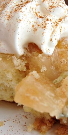 Mom's Apple Dump Cake ~ An awesome quick dessert! It is very easy to cook. All you require to prepare this dessert is a box of cake mix, some apple pie mix, and some butter, and that is all.