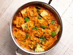 Get Ravioli a la Betsy Recipe from Food Network Fish Recipes, Seafood Recipes, Pasta Recipes, Dinner Recipes, Cooking Recipes, Recipies, Pasta Meals, Cleaning Recipes, Entree Recipes