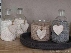 * Decoração e Invenção *: Vidros com crochê