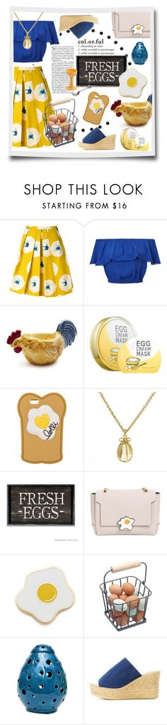 """Farm Fresh"" by maheanani ❤ liked on Polyvore featuring Eggs, Miss Selfridge, Sur La Table, too cool for school, Lolli, Anya Hindmarch, Georgia Perry, Bamboo and Alessi"