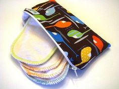 No better way to tote those wipes then with a zippered case!