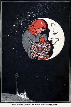 A sleeping in the arms of the moon