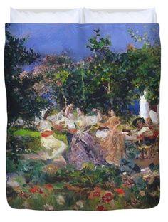 Prairies Inondees Pas De Calais 1880 Duvet Cover for Sale by Damoye ...