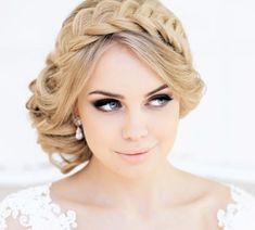belle coiffure pour mariage - chignon décontracté avec tresse