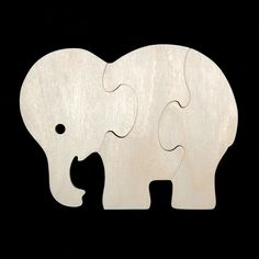 Childrens Wood Puzzles Zoo Animals Set of 4 por nwwoodcrafters