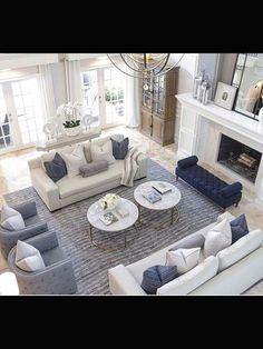 Elegant large living room layout ideas for an elegant look 10 - living room furniture arrangement ideas Coastal Living Rooms, New Living Room, Formal Living Rooms, Living Room Sets, Living Room Designs, Living Spaces, Small Living, Modern Living, Living Area