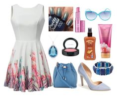 Summer Outfit by ohsosara64 on Polyvore featuring polyvore, fashion, style, Kenneth Cole Reaction, Neiman Marcus, 1928, Dolce Giavonna, Wet Seal, MAC Cosmetics, Benefit, Victoria's Secret, Hawaiian Tropic and clothing