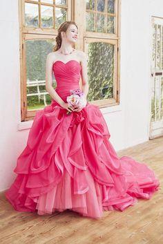 no.23777 - COLOR | 新宿でウェディングドレスをレンタルするならブライダルサロンHANA