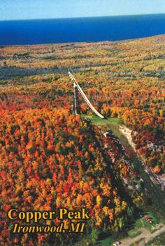 Copper Peak is a ski flying hill located in Ironwood, Michigan, United States. Built in 1970 it remains the only ski flying facility in the Western Hemisphere.