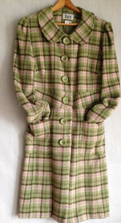 Hey, I found this really awesome Etsy listing at https://www.etsy.com/listing/205570337/soft-green-plaid-coat