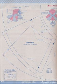 Japanese Sewing Patterns, Sewing Patterns Free, Free Sewing, Summer Hats, Winter Hats, Millinery Hats, Diy Hat, Japanese Books, Book And Magazine
