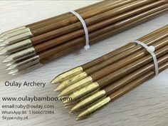 40~45# 33inch Bullet Tips Bamboo Shafts