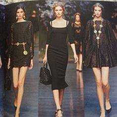 Dolce & Gabbana Spring 2014 Runway masterpiece!! Every season dolce and Gabbana design the perfect black dress. Spring 2014 they made it so that the chest décolleté area was nice and open but does not reveal too much of our fantastic lady parts.  From the photo from the runway show you can see that they chose to show the bra straps, but you can most certainly wear a strapless bra to keep that from happening. Again serious offers only and please contact me with any questions. Dolce & Gabbana…
