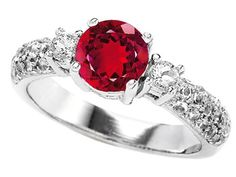 Original Star K(tm) 7mm Round Created Ruby Engagement Ring LIFETIME WARRANTY Star K. $129.99. Guaranteed Authentic from the Star K designer line. Star K. Designs are exclusive and protected by Copyright Laws
