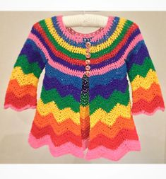 We are very excited that this gorgeous rainbow cardigan design will be featured in this month's #crochetnowmag It has been designed by #jacintabowie using our 100% aran cotton Affection range #threebearsyarn #aran #cotton #Affection #rainbow #Cardigan #crochet #crochetpattern