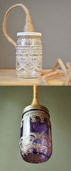 Reciclar potes de cristal y darles un estilo oriental/ Recycle glass jars and making them oriental style #recycle design