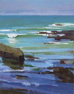 Marcia Burtt  Bright Morning, Otter Cove  acrylic 14×11 in.