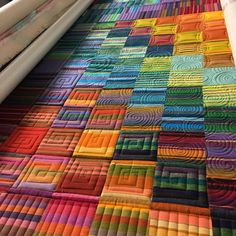 """1,196 Likes, 41 Comments - Kathleen Riggins (@kathleenquilts) on Instagram: """"While @rosecityquilter is on vacation I'm using her machine to get some store samples quilted at…"""""""
