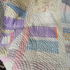 Beautiful quilting. Quilt was dirty but washed like a dream.