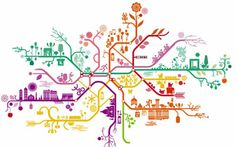 Antoine et Manuel is a Paris-based design duo whose work includes wallpaper, rugs, maps, and printed matter. Above is their map of the Paris Metro. Maps Design, Design Poster, Metro Paris, Underground Map, Metro Map, Art Carte, Subway Map, Metro Subway, Paris Map