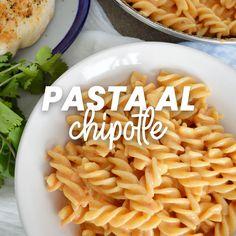Pasta al chipotle - Authentic Mexican Recipes, Mexican Food Recipes, Recipes Dinner, Kitchen Recipes, Cooking Recipes, Healthy Recipes, Cooking For Dummies, Food Porn, Deli Food