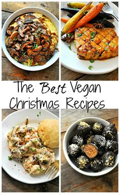 vegetarian christmas recipes The Best Vegan Christmas Recipes - Rabbit and Wolves Vegetarian Christmas Recipes, Vegan Christmas Dinner, Healthy Holiday Recipes, Vegan Thanksgiving, Whole Food Recipes, Vegetarian Recipes, Dinner Recipes, Holiday Meals, Vegan Dinner Party