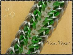 """New """"Twin Town"""" Hook Only Rainbow Loom Bracelet/How To Tutorial"""