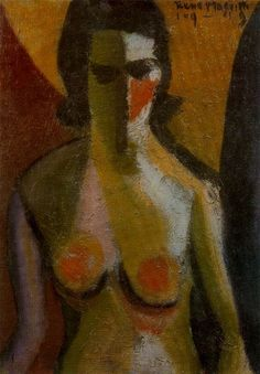 Nude, 1919 (Cubism) by the Belgian painter René Magritte Pablo Picasso, Rene Magritte, Georges Braque, Dali, Figure Painting, Painting & Drawing, Miro, Cubism Art, Surrealism
