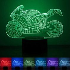 3D Motorcycle Illusion LED Table Desk Light USB 7 Color Changing Night Lamp Home Decor  Worldwide delivery. Original best quality product for 70% of it's real price. Buying this product is extra profitable, because we have good production source. 1 day products dispatch from...