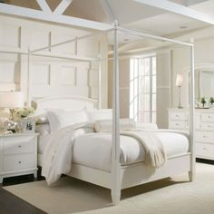 Bedroom Design, Remarkable White Canopy Bed For Girls Also White Bedspreads Quilt And Bed Scarves Also Beige Modern Carpet Design Also Brown...