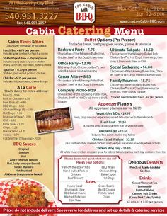 Catering Menu Templates  Catering Menu For Website  Truck