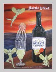 Absente Absinthe Refined art- Homage a Much- by John Pacovsky