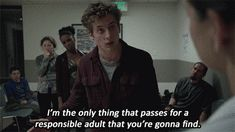 "When he states the obvious. | 19 Times Lip Gallagher From ""Shameless"" Tells It Like It Is"