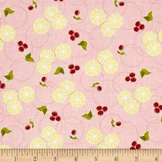 Delicious Wishes Lemon Slices Pinkby Jana Nielson for Henry Glass Co., Inc $7.82/y