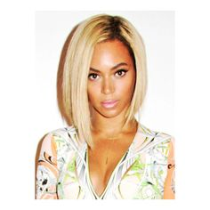 Custom Beyonce BOB Hair Full Lace Wig Straight SC011S-c ❤ liked on Polyvore featuring hair, beyonce and people