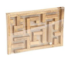 Wooden Glass Marble Maze Waldorf Folk Toy Animal Puzzle Board American Made Amish Toys Christmas Birthday Gifts