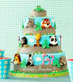 a day at the zoo - Cake by Wendy Schlagwein