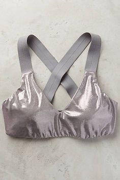 Metallic Crisscross Bra