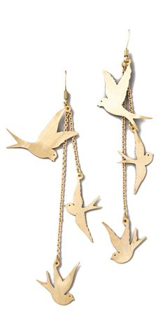Three Dove Earrings by panna.iwanna